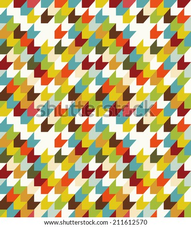 Abstract seamless with colorful chevron on white background. - stock vector