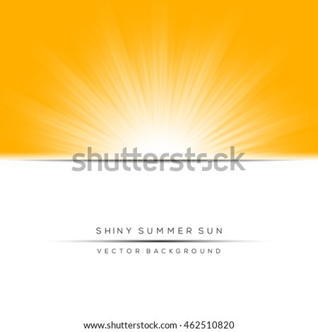 Abstract seasonal and natural concept, shiny sun ray banner, background.
