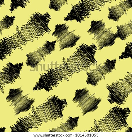 Abstract semless hand drawn brush pattern