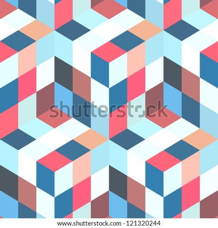 Abstract semless mosaic. - stock vector