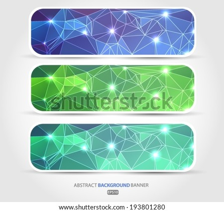 Abstract set banner. Vector EPS 10 illustration. - stock vector