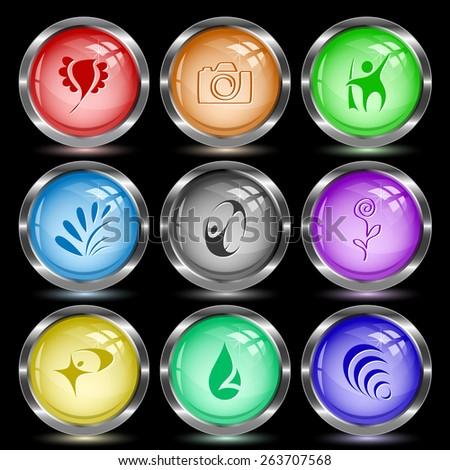 Abstract set. Internet button. Vector illustration. - stock vector
