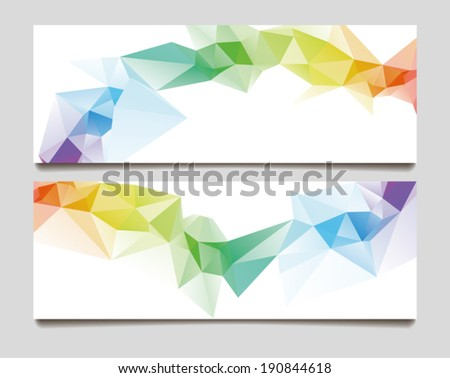 Abstract set wave triangle background - stock vector