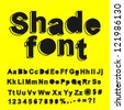 Abstract shade font. Vector illustration. - stock photo