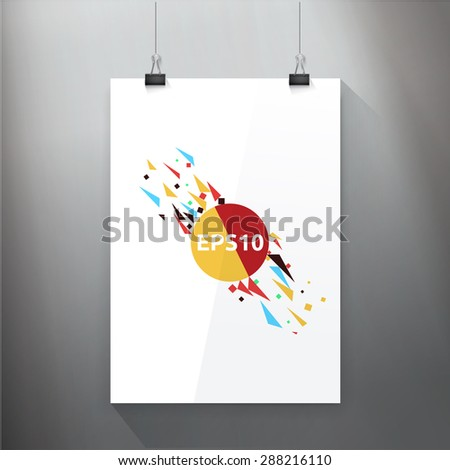 Abstract Shape Concept Art on A4 paper Page - stock vector