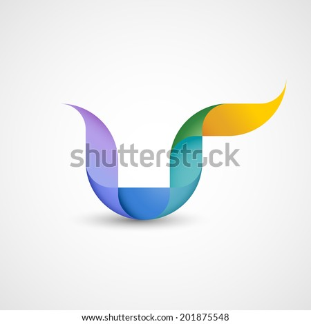 Abstract shape, eps10 vector - stock vector