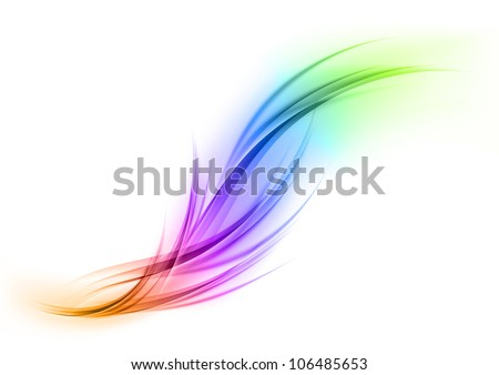Abstract shape in the rainbow colors