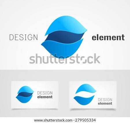 Abstract shape logo design template - stock vector