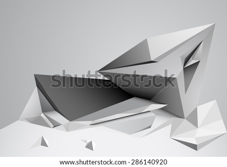 Abstract shape scene low poly vector background