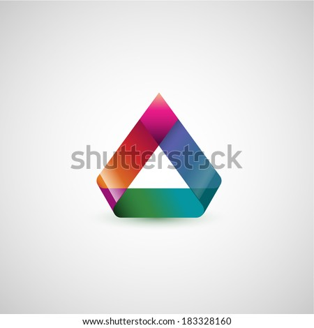 Abstract shape, triangles, eps10 vector - stock vector