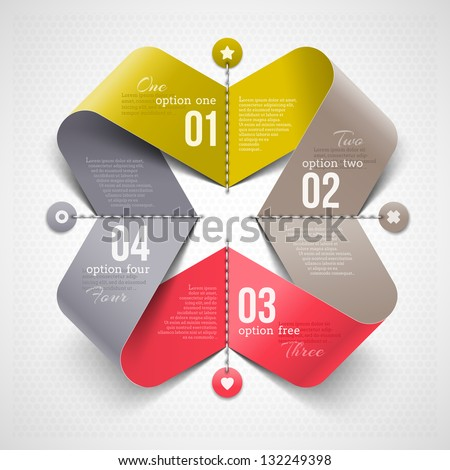 Abstract shape with infographics elements - vector illustration - stock vector