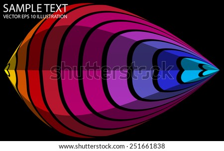 Abstract shaped colorful background vector illustration - Vector abstract colorful striped   background template - stock vector