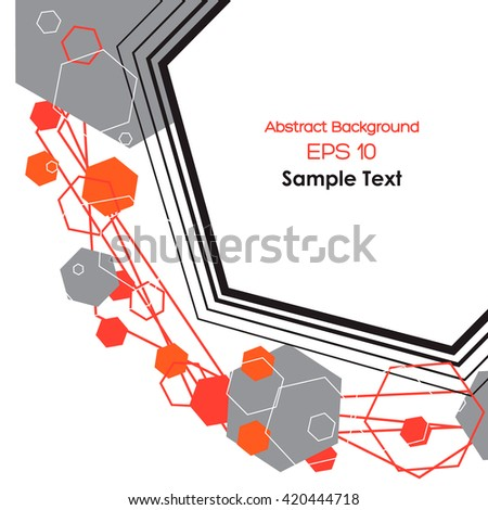 Abstract shapes and objects. Vector illustration