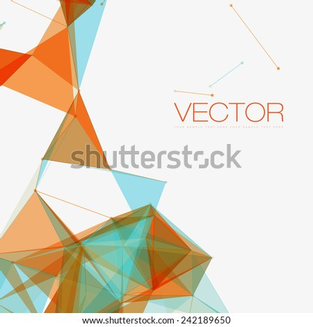Abstract Shapes Background | EPS10 Futuristic Design - stock vector