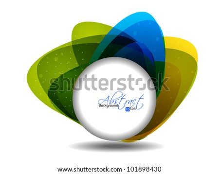 Abstract shapes background with colorful design for text project used and copy space, isolated on white. EPS 10, vector illustration. - stock vector