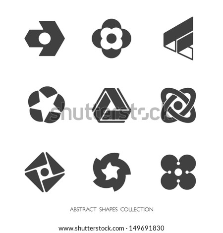 Abstract Shapes Collection. Vector icons set. - stock vector