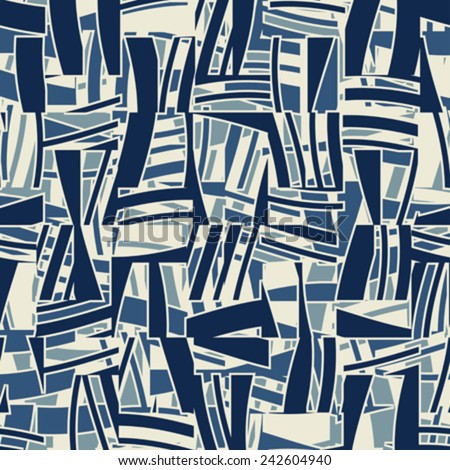 Abstract  shapes seamless pattern. Vector.  - stock vector