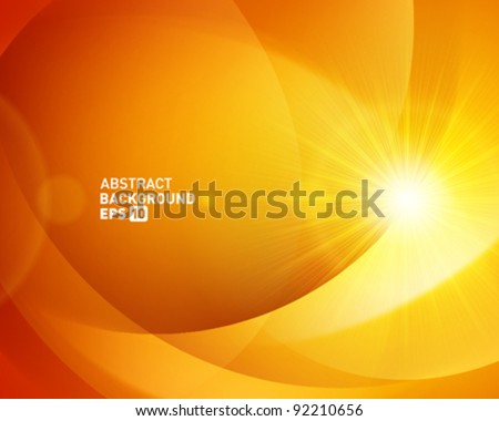 Abstract shapes swirl and light vector background. Eps 10. - stock vector