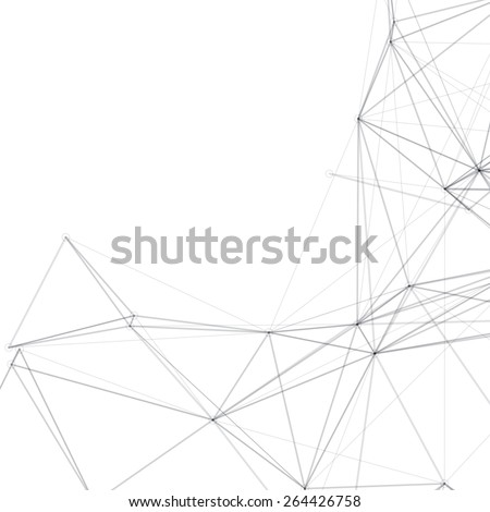 Abstract Shapes Vector Background | Line Art  - stock vector