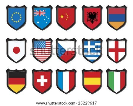Abstract Shapes World Flags