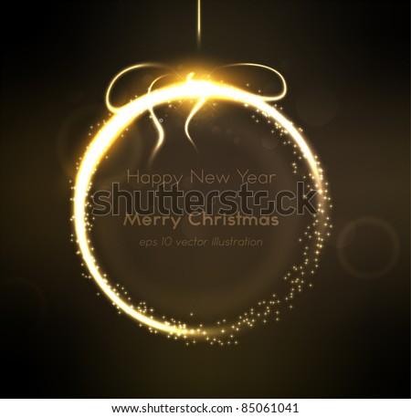 Abstract shine Christmas ball - stock vector