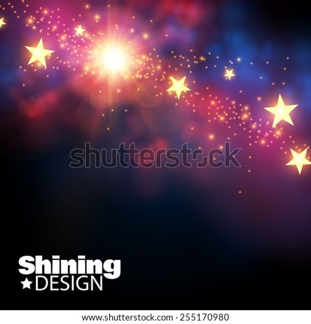 Abstract shining background. Vector illustration - stock vector
