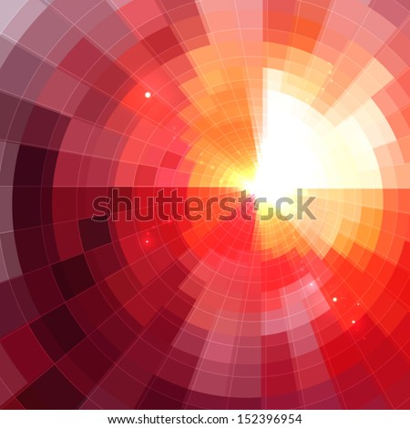 Abstract shining circle tonnel background - stock vector