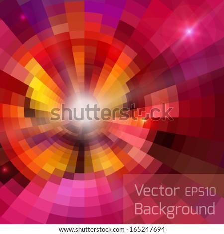 Abstract shining circles vector background  - stock vector
