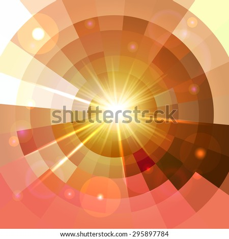 Abstract shining lights color circle  frame mosaic background