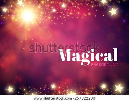 Abstract shining magic background. Vector illustration - stock vector