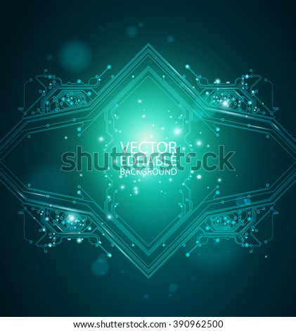 abstract shiny background - dark green color - vector - stock vector