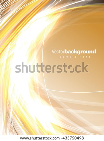 Abstract Shiny Background. Orange Sparkly Illustration. - stock vector