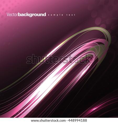 Abstract Shiny Background. Purple Wavy Illustration. - stock vector