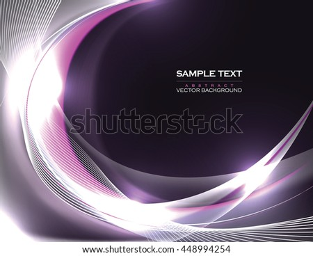 Abstract Shiny Background. Silver Sparkly Illustration. - stock vector