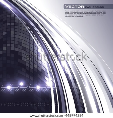 Abstract Shiny Background. Silver Sparkly Illustration.