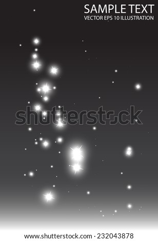 Abstract shiny background sparkles falling illustration - Abstract glitter fall  background design illustration