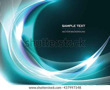 Abstract Shiny Background. Turquoise Sparkly Illustration. - stock vector