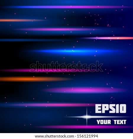 Abstract shiny background with horizontal colorful stripes. Vector eps10 - stock vector