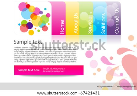 Abstract shiny business Website design template. Vector illustration - stock vector
