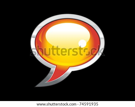 abstract shiny chat icon  vector illustration - stock vector