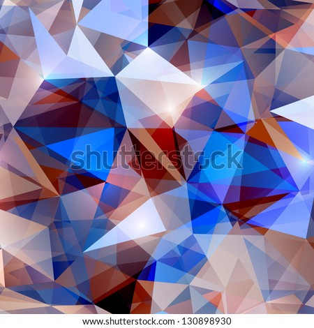 abstract shiny crystal background - stock vector