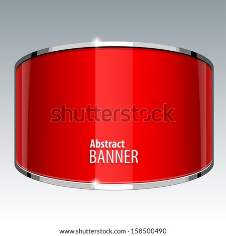 Abstract Shiny gloss red vector banner eps 10 - stock vector