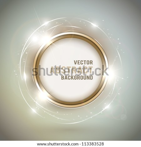 Abstract shiny golden frame with space for text - stock vector