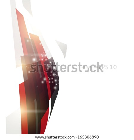 Abstract shiny lines background - stock vector