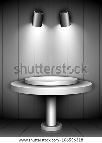 Abstract shiny presentation of grey podium. EPS 10. - stock vector