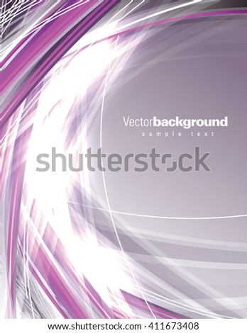 Abstract Shiny Purple Background. - stock vector
