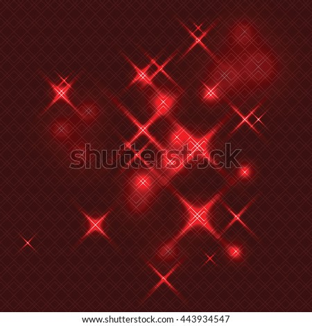 Abstract Shiny Red Background. Vector Illustration.