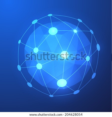 Abstract shiny sphere background. Vector eps10
