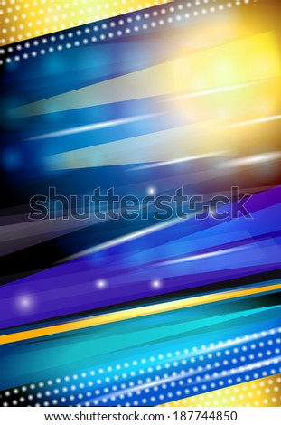 Abstract shiny streaky sparkling blue nightlife disco background design print vector illustration - stock vector