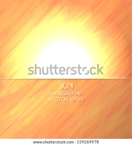 Abstract shiny sun background. Vector eps10. - stock vector